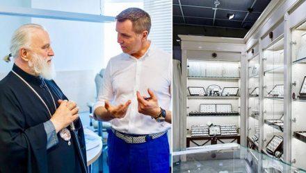 Митрополит Павел благословил ювелирный бизнес Корягина, который владеет магазинами в Гомеле и Жлобине