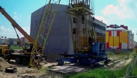 В Брагине при демонтаже крана мужчине стало плохо на семиметровой высоте – спасли ребята из МЧС