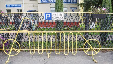 Фотофакт: необычные велопарковки в Гомеле