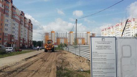 В 104-м микрорайоне Гомеля полным ходом идёт строительство детского сада, который обещают сдать до конца года