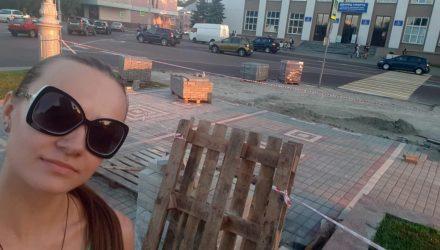 В Гомеле разбирают плитку, положенную к приезду Лукашенко! Неужели правда??