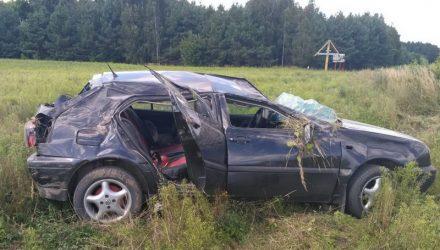 В Брагинском и Мозырском районах перевернулись авто: пострадала 5-летняя девочка, парень – в реанимации