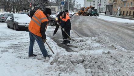 В Гомеле попробуют отказаться от песка при обработке дорог от гололёда