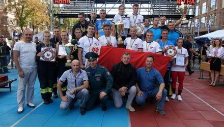 Гомельские спасатели заняли третье место на международных соревнованиях в Киеве