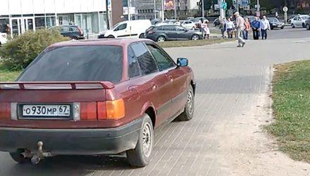 «Тут GTA в центре города!» Погоня со стрельбой за Audi с российскими номерами в Минске попала на видео
