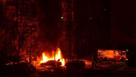 В Светлогорске эпично сгорела Audi – видео