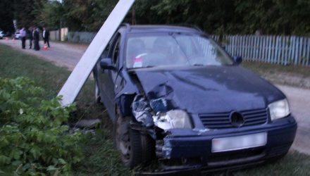 В Калинковичском районе Volkswagen врезался в столб: погиб 2-летний мальчик