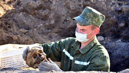 Километровая братская могила времен ВОВ найдена под Гомелем
