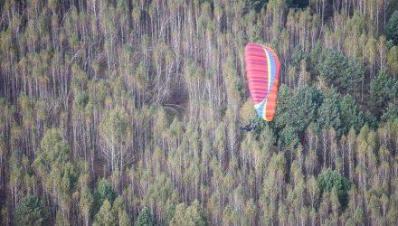 Под Гомелем прошли тренировочные полёты перед соревнованиями еврокубка Brilliantfoot по парапланерному спорту (фото)