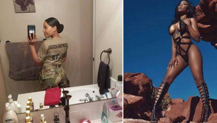 Фотофакт. Штаб-сержант из США, которая стала моделью