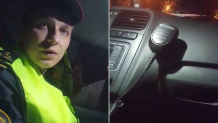 В Гомеле принципиальный гражданин отказался отключить запись видео по требованию инспектора ГАИ и теперь может заплатить 1225 рублей штрафа