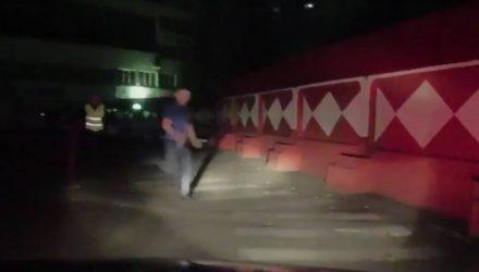 В Мозыре пьяный 21-летний парень устроил погоню с ГАИ, а потом соревновался в спринте с инспекторами. Проиграл (видео)