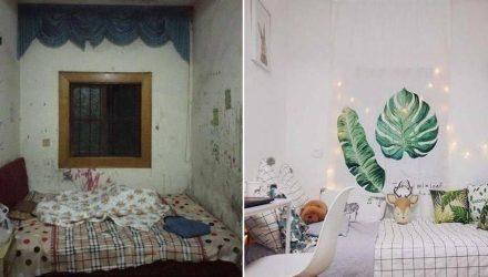 Студентка получила ужасную комнату в общежитии и преобразила её до неузнаваемости
