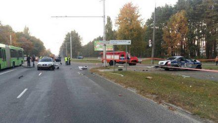 В Гомеле по факту ДТП с участием машины ГАИ и BMW возбуждено уголовное дело