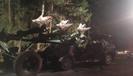 Ужасная смерть. Четыре белоруски погибли в столкновении Renault с плугами трактора