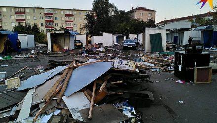Фотофакт: в Гомеле снесли Привокзальный рынок