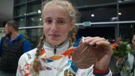 Гомельскую спорстменку, завоевавшую бронзу на юношеских Олимпийских играх, торжественно встретили в аэропорту
