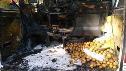 В Мозыре микроавтобус Volkswagen сгорел за несколько минут прямо на глазах у хозяина – видео