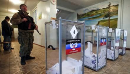 На Донбассе проходят выборы глав самопровозглашенных республик и депутатов парламентов