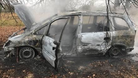 Что происходит, если не следить за электропроводкой авто: на Гомельщине целиком сгорел Opel (видео)