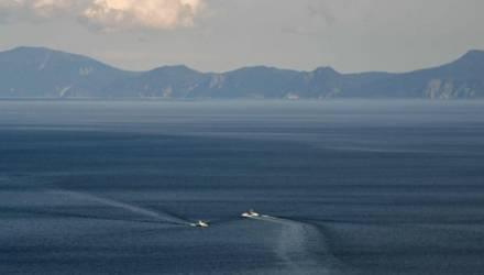 Один из японских островов ушел под воду