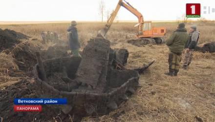 Гусеницы, фрагмент лобовой брони корпуса: на Гомельщине найдены фрагменты легендарного танка Т-34