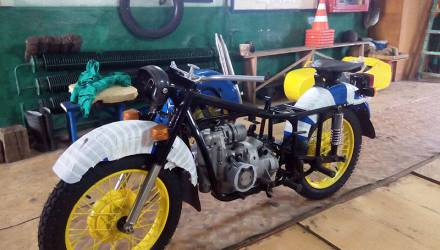 Рогачёвские милиционеры отреставрировали легендарный мотоцикл