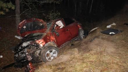Под Речицей водитель не справился со скоростью и управлением, опрокинулся в кювете и умер