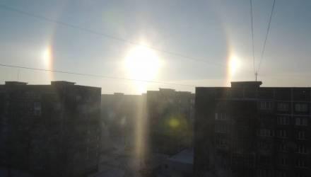 В небе над Гомелем появилось солнечное гало
