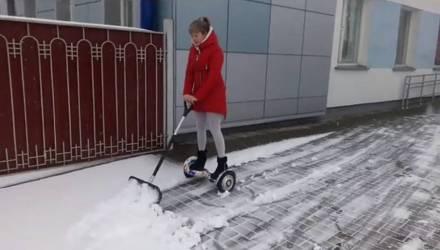 Зима в городе! На неделе в Гомеле ожидаются снег и метель