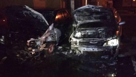 В Гомеле горели три авто. В одном случае подозревают поджог – фото, видео