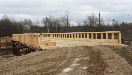 В Житковичском районе в четверг откроют ещё один мост – деревянный