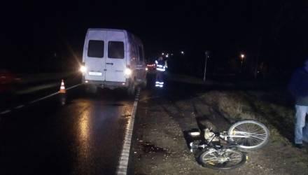 Под Гомелем микроавтобус сбил велосипедиста