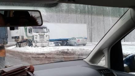 В массовой аварии под Гомелем участвовали несколько грузовиков и легковой автомобиль