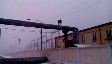 Увезли в психиатрию в Гомель. В Светлогорске парень угрожал спрыгнуть с трубы возле ТЭЦ: милиция и МЧС несколько часов вели переговоры