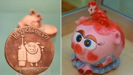"""""""Нахрюкаемся?!"""" Выставка сувенирных статуэток свинок открылась в Гомеле"""