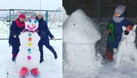 Гомельчане лепят! Позитивная подборка снеговиков, сделанных руками горожан (фото)