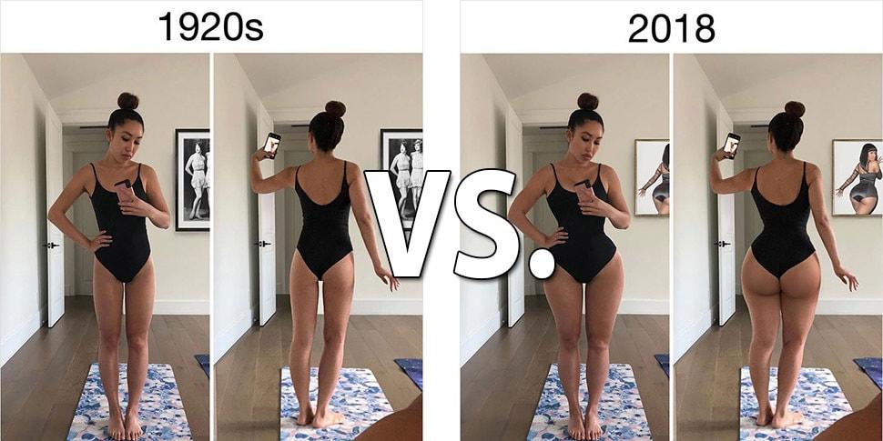 Женщина «отфотошопила» себя под стандарты красоты разных эпох