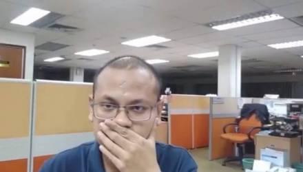 Парень снял в пустом офисе жуткое видео, от которого стынет в жилах кровь