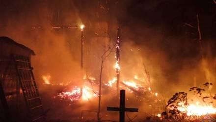Ужасно. Под Гомелем на пожаре погибли мать и сын