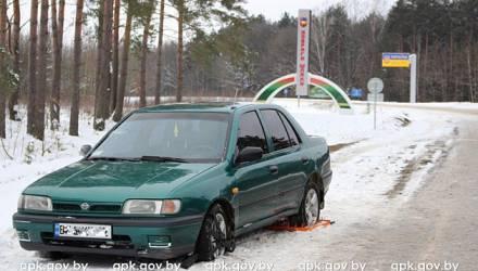 Двое пьяных украинцев хотели прорваться на машине через границу в Беларусь