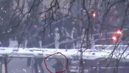 Впервые опубликовано видео момента убийства наёмника из Гомеля Михаила Жизневского на Майдане в январе 2014 года