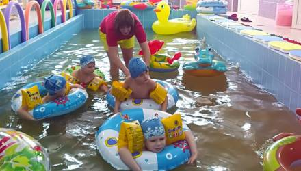 В Брагинском районе Гомельщины открыт первый бассейн для малышей