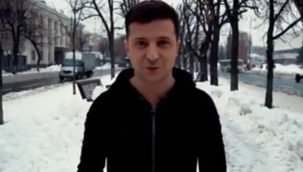 Актёр Зеленский выступил со вторым за сутки обращением к украинцам