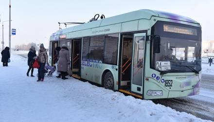В Гомеле сегодня троллейбусы нового поколения поехали через Шведскую Горку