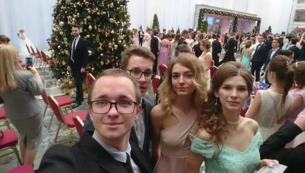 Гомельские студенты показали класс в изящных па на Республиканском новогоднем балу во Дворце Независимости