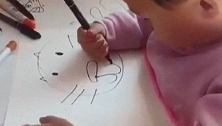 Малыш рисует лучше любого взрослого – видео шокировало пользователей