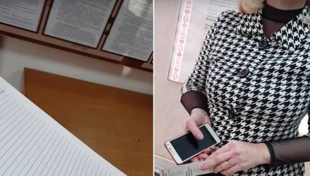 В Гомеле женщина выдернула книгу жалоб и предложений из рук посетителя, который провоцировал скандал видеосъёмкой