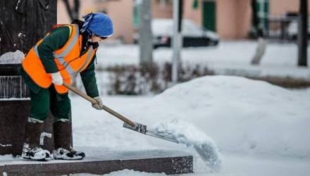 На уборку Гомеля ежедневно выходят 126 работников «ГорСАП» и 350 дворников