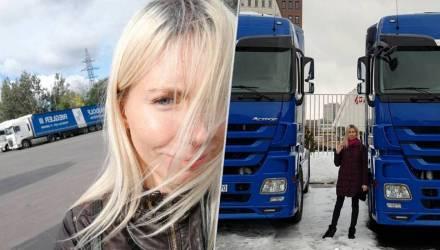 «В автошколе думали, что я ошиблась дверью». История 26-летней Саши – самой молодой белорусской дальнобойщицы